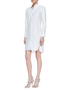 Long-Sleeve Cotton Poplin Shirtdress   Long-Sleeve Cotton Poplin Shirtdress