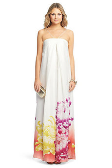 Annie Printed Silk Maxi Dress