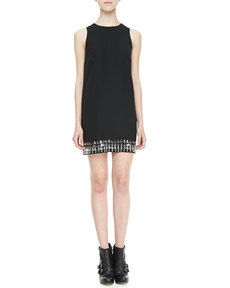 Cynthia Steffe Hartley Crystal-Bottom Shift Dress