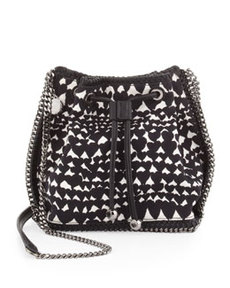 Falabella Printed Crossbody Pouch, Black   Falabella Printed Crossbody Pouch, Black