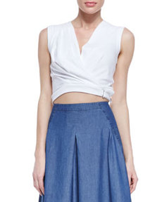 Robert Rodriguez Knit Draped Belt Top