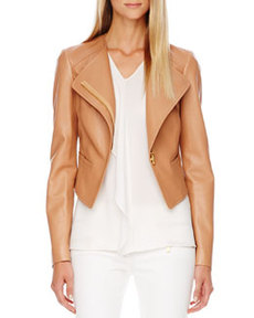 Asymmetric Leather Jacket   Asymmetric Leather Jacket