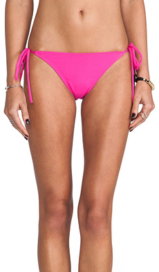 Susana Monaco Tie String Bikini Bottom in Fuchsia