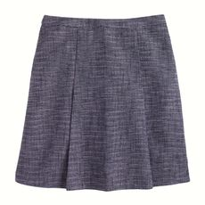 Navy tweed skirt
