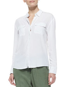 Sway Long-Sleeve Collared Blouse   Sway Long-Sleeve Collared Blouse