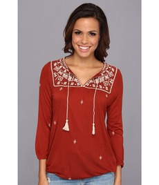 Lucky Brand Winona Embroidered Top