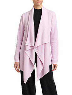 St. John Cashmere Draped-Front Long Cardigan