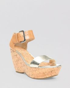 Donald J Pliner Platform Wedge Sandals - Malibu