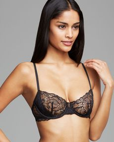 Calvin Klein Underwear Black Label Lace Unlined Underwire Bra #F3739
