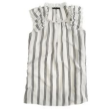 Silk flutter top in stripe