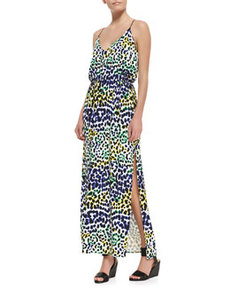 Multi-Leopard-Print Maxi Dress   Multi-Leopard-Print Maxi Dress