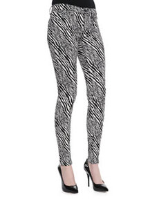 Midrise Super Skinny Pants, Abstract Zebra   Midrise Super Skinny Pants, Abstract Zebra