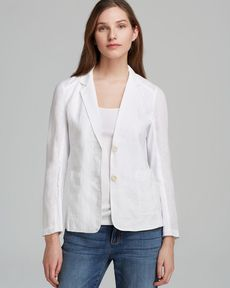 Eileen Fisher Notch Collar Knit Panel Jacket