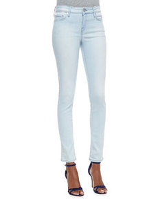 Skinny-Leg Cropped Denim Jeans, Starlight   Skinny-Leg Cropped Denim Jeans, Starlight