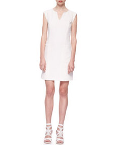 Textured Crepe Relaxed Dress   Textured Crepe Relaxed Dress