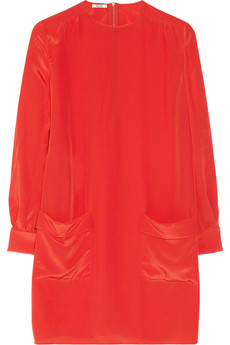Miu Miu Silk crepe de chine mini dress