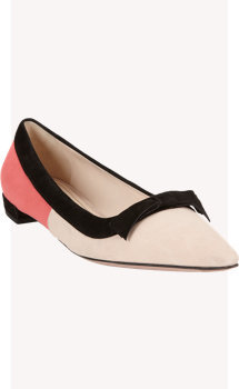 Prada Colorblock Bow Flat