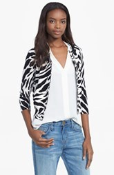 Tracy Reese Graphic Print Embellished Cardigan