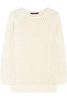Tibi Jacquard-effect wool-blend sweater