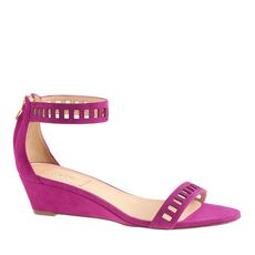 Lillian suede lattice low wedges