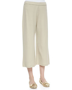 Joan Vass Cropped Wide-Leg Pants, Women's