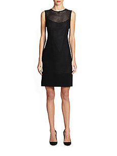 Akris Punto Laser-Cut Eyelet Panel Dress