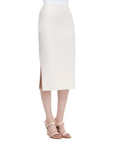 Lafayette 148 New York Dayna Over-the-Knee Pencil Skirt, Raffia