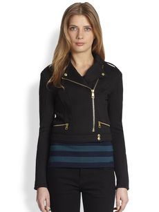 Burberry Brit Cropped Zipper-Detail Jacket