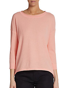 French Connection Grace Lace-Accented Knit Top