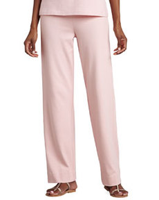 Joan Vass Interlock Stretch Pants, Petite