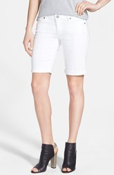 Paige Denim 'Jax' Stretch Denim Bermuda Shorts (Optic White)