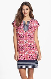 Laundry by Shelli Segal Print Extended Shoulder Shift Dress