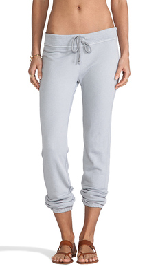James Perse Genie Sweat Pant in Light Gray