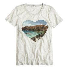 Drapey tee in beach heart