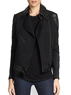 Robert Rodriguez Mixed-Media Moto Jacket