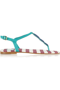 M Missoni Color-block leather sandals