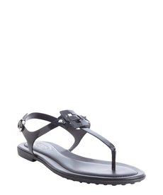 Tod's blue leather anklestrap sandals
