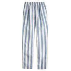 Linen drapey pull-on pant in stripe