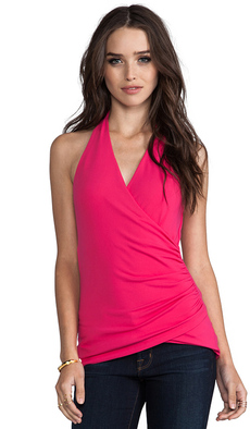 Susana Monaco Wrap Halter Top in Pink