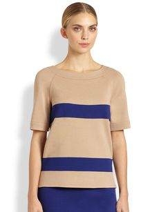 St. John Stripe Top