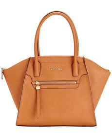 Calvin Klein Medium Saffiano Satchel