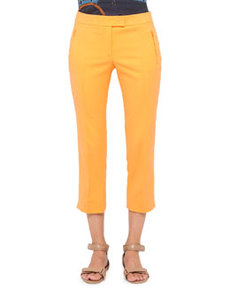 Akris punto Fabrizia Cropped Pants, Orange