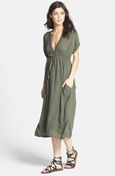 James Perse Deep V-Neck Chiffon Dress