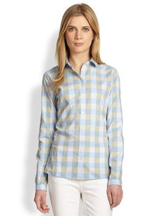Burberry Brit Batwing-Check Button-Front Shirt