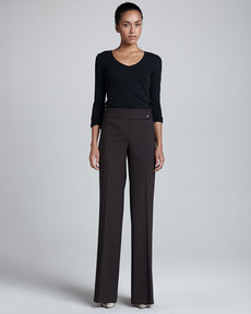 Michael Kors Jaryn Stretch-Wool Pants