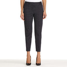 Printed Stretch Cotton Cropped Pants (Petite)