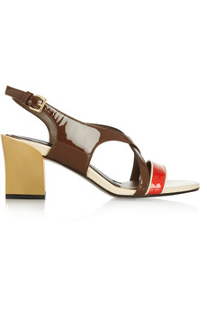 Marni Color-block patent-leather sandals