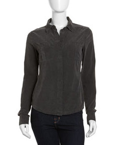 James Perse Military Corduroy Shirt, Abyss
