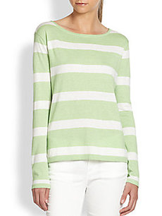 Joie Kelia Cotton, Silk & Cashmere Striped Sweater