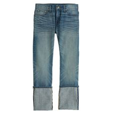 Point Sur slim stacker Japanese selvedge jean in klutey wash